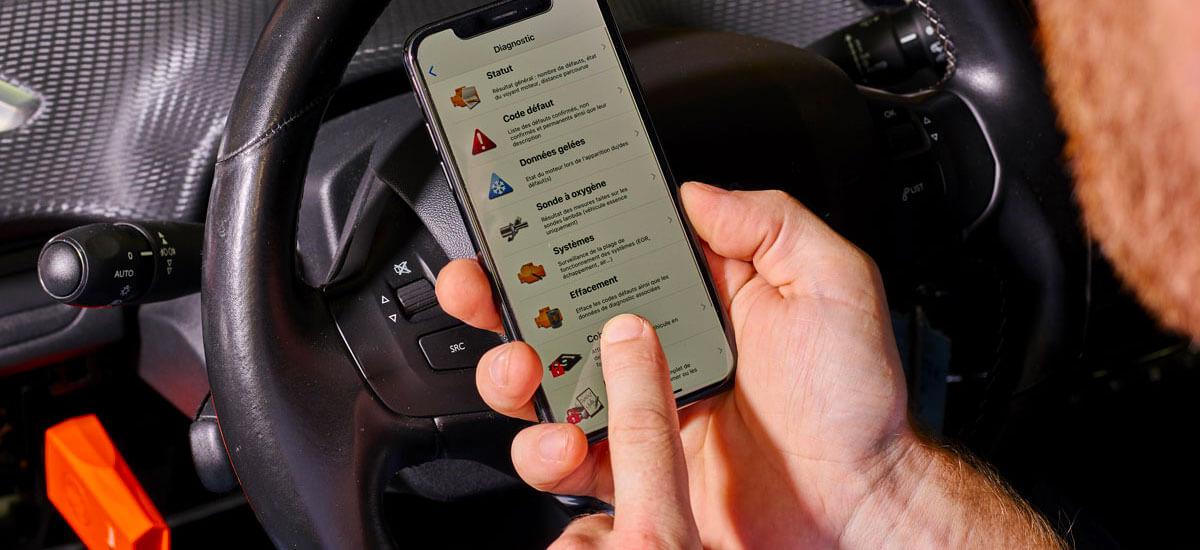 Car diagnostic app EOBD Facile for iPhone/iPad - Outils OBD