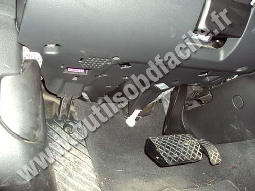 Audi A6 Under steering wheel
