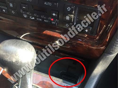 Obd2 Connector Location In Audi S8 4d 1996 2003