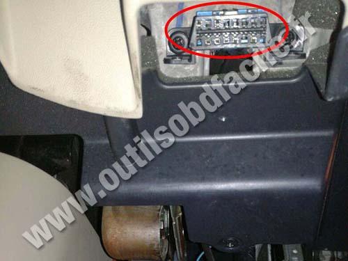 Cadillac SRX - OBD port