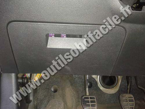 Obd2 Connector Location In Chery A13 Celer 2009 2015