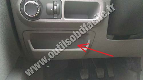 Obd2 Connector Location In Chevrolet Agile  2009