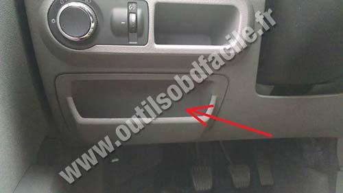 Obd connector location in chevrolet agile