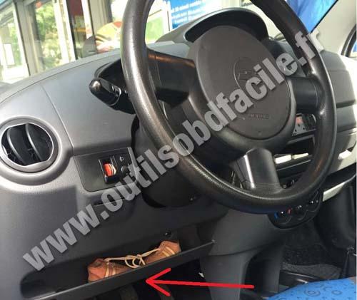 Chevrolet Matiz Dashboard Steering Wheel on Car Tracker Obd