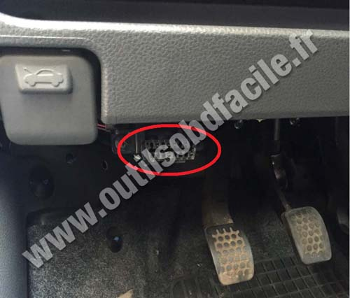 Obd2 Connector Location In Chevrolet Matiz 2005 2010