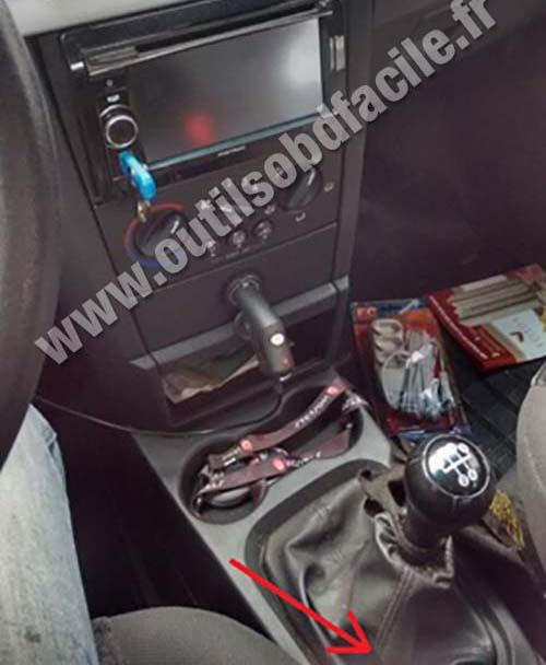 Chevrolet Meriva A central console