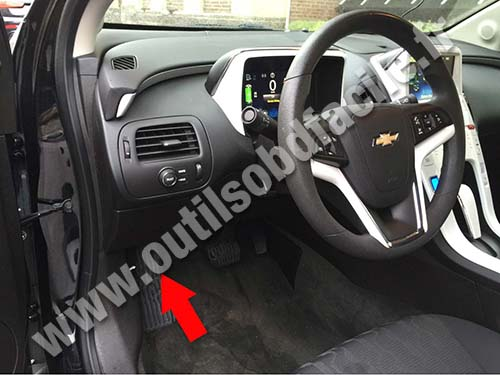 Obd2 Connector Location In Chevrolet Volt 2010 2015