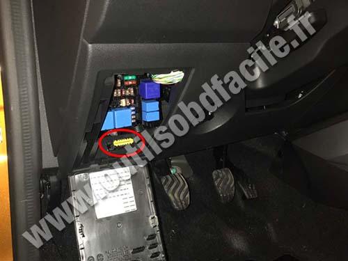 Obd2 Connector Location In Dacia Duster  2017