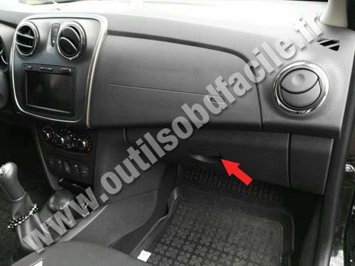 Obd2 Connector Location In Dacia Sandero 2012