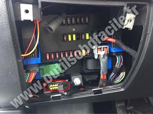 Fiat Ducato - OBD plug