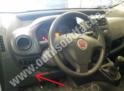 fiat fiorino dashboard steering wheel obd2 connector location in fiat fiorino (2007 ) outils obd facile fiat punto fuse box location at mifinder.co