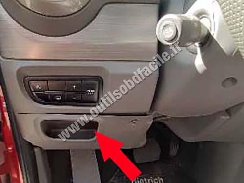 Fiat Grand Siena - Storage compartment
