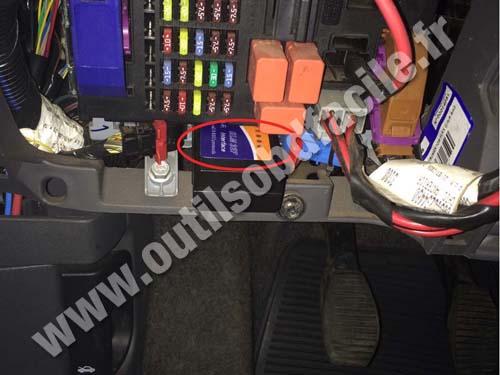 Obd2 Connector Location In Fiat Linea 2007 2015 Outils Obd Facile