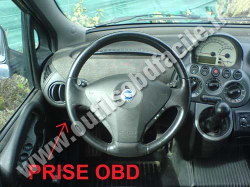 Obd2 Connector Location In Fiat Multipla 1998 2010 Outils Obd Facile