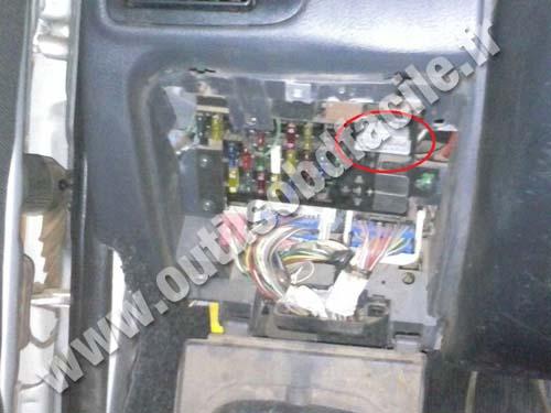 Fiat Palio OBD II socket