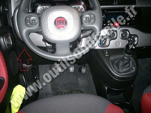photo1 obd2 connector location in fiat panda 3 (2012 ) outils obd facile fiat panda fuse box at nearapp.co
