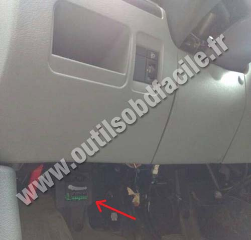 obd2 connector location in fiat scudo 1995 2006 outils obd facile. Black Bedroom Furniture Sets. Home Design Ideas