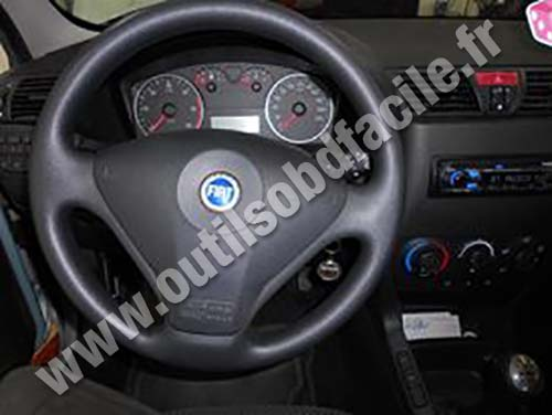 obd2 connector location in fiat stilo 2001 2007. Black Bedroom Furniture Sets. Home Design Ideas