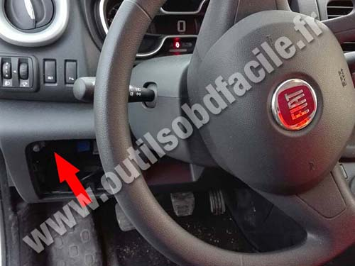 obd2 connector location in fiat talento (2016 ... fiat qubo fuse box #9