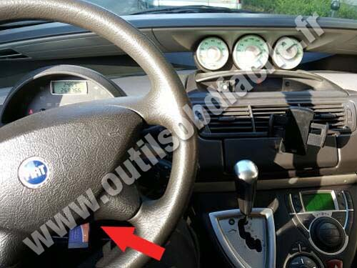 Obd2 Connector Location In Fiat Ulysse 2002 2010