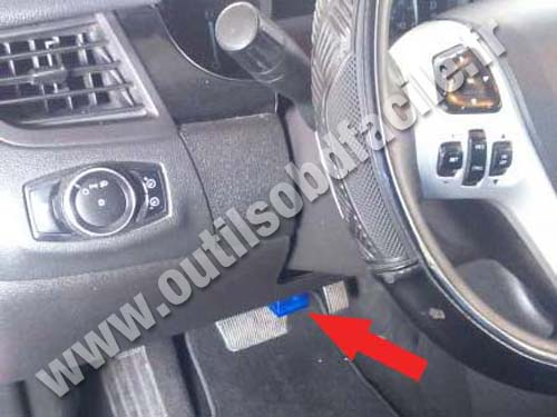 2000 Ford Edge >> OBD2 connector location in Ford Edge I Phase II (2011 - 2014) - Outils OBD Facile