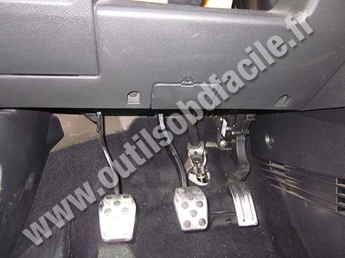 Ford Fiesta near brake pedal