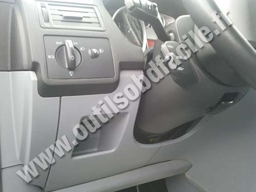 Ford Focus case under the steering wheel