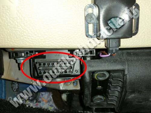 OBD2 connector location in Ford Fusion (2005 - 2012 ...
