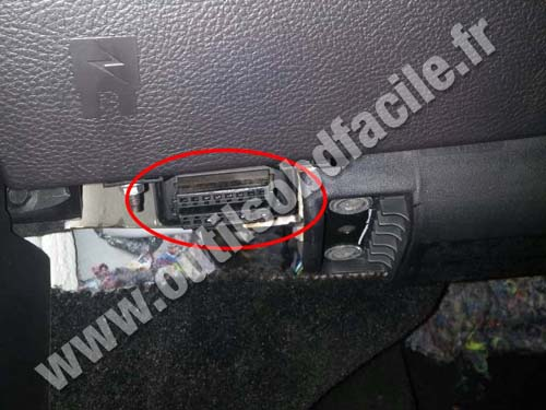 obd2 connector location in ford fusion  2013