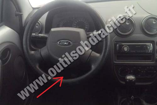 OBD2 Connector Location In Ford Ka 1996 2008 Outils
