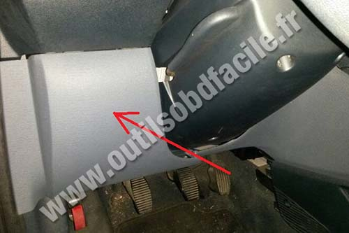Obd connector location in ford ka  outils