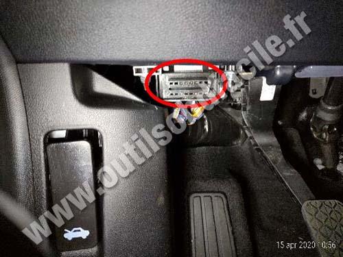Ford Puma - OBD socket
