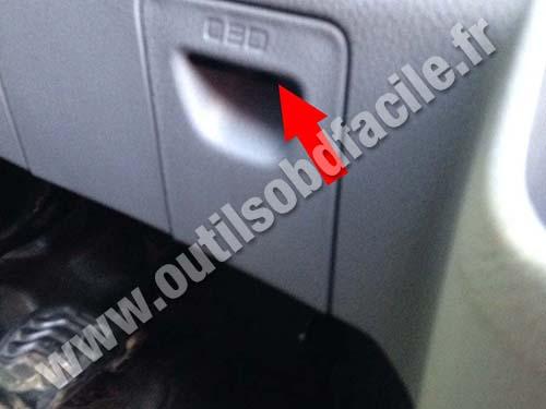 Ford Transit Custom RHD OBD trapdoor