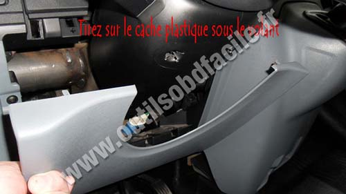 Ford Transit cover under the steering wheel