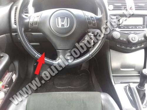 Obd2 Connector Location In Honda Accord 2003 2008