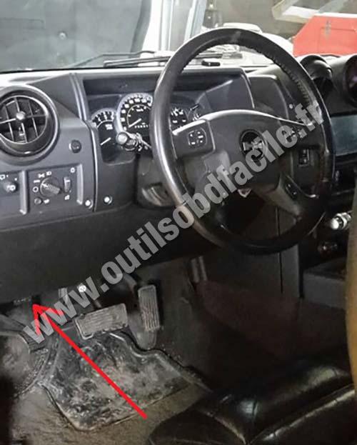 Hummer H Dashboard Under Steering Wheel Obd