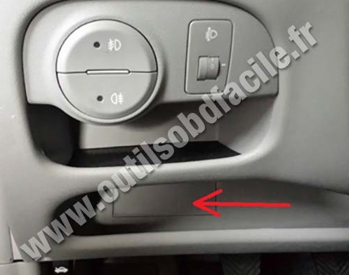 Obd2 Connector Location In Hyundai Accent 2006 2011