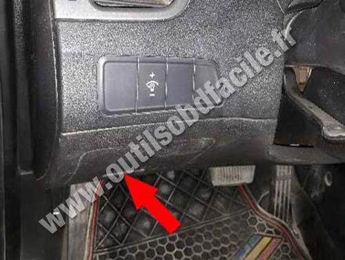 Obd2 Connector Location In Hyundai Elantra Md 2010 2016
