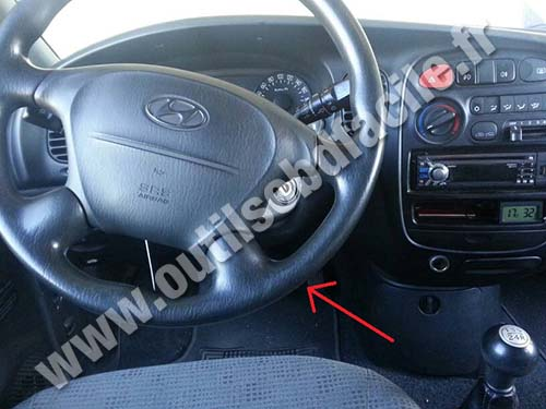 Obd2 Connector Location In Hyundai H1 1997 2007