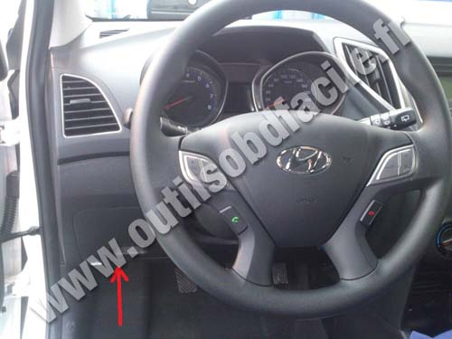 OBD2 connector location in Hyundai HB20 (2012 - ) - Outils ...