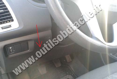 obd connector location  hyundai