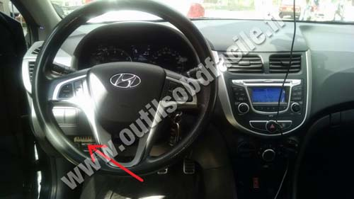 Hyundai I25 dashboard