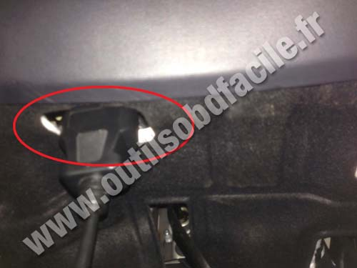 obd2 connector location in hyundai i30 2007 2012. Black Bedroom Furniture Sets. Home Design Ideas