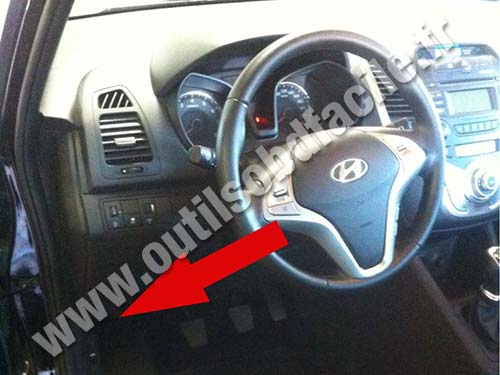 Obd2 Connector Location In Hyundai Ix20 2010 2015