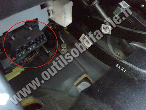 Obd2 Connector Location In Hyundai Matrix 2001 2010