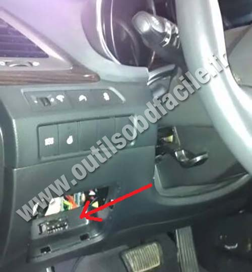Obd2 Connector Location In Hyundai Santa Fe 3 2013 Outils Obd Facile