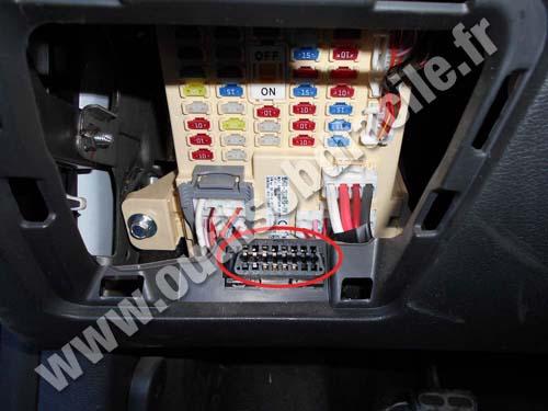 2016 Hyundai Santa Fe >> OBD2 connector location in Hyundai Veloster (2011 ...