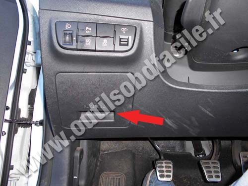 Obd2 Connector Location In Hyundai Veloster  2011 -