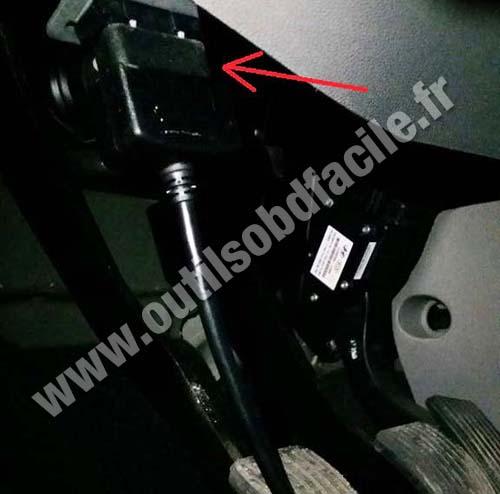 Kia Carens OBD2 socket