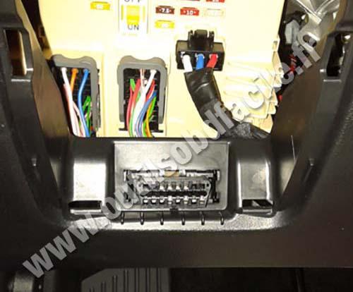 Kia Cee'd OBD II socket